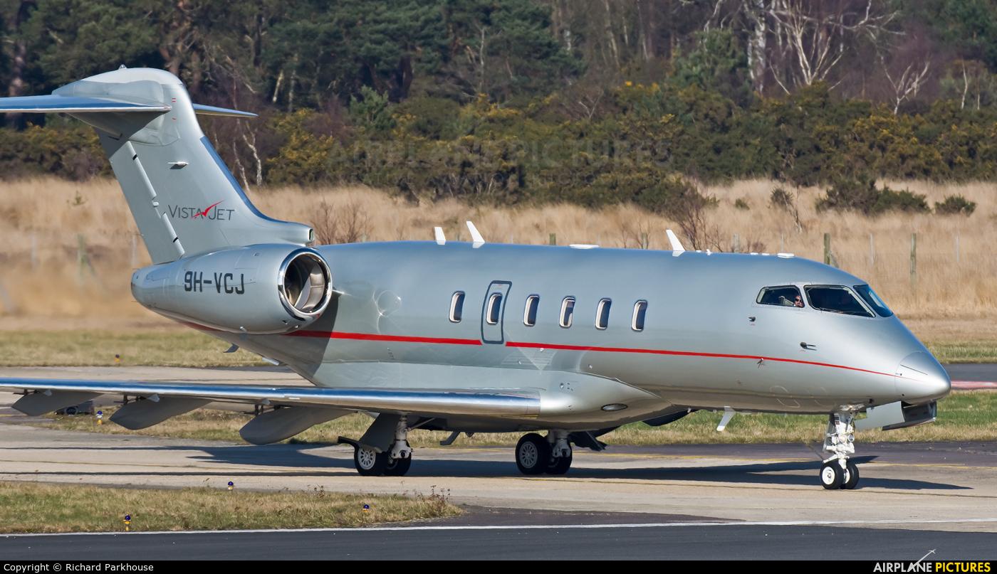 Vistajet 9H-VCJ aircraft at Farnborough
