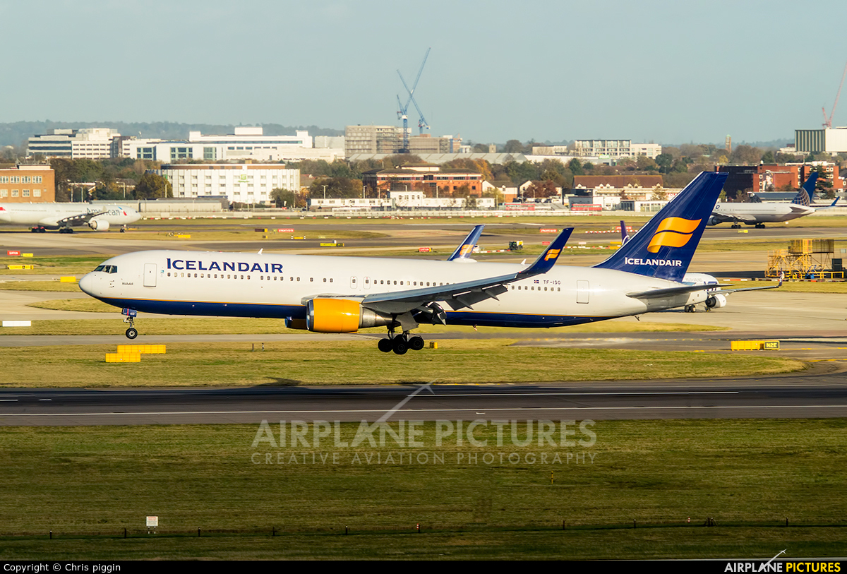 Icelandair TF-ISO aircraft at London - Heathrow