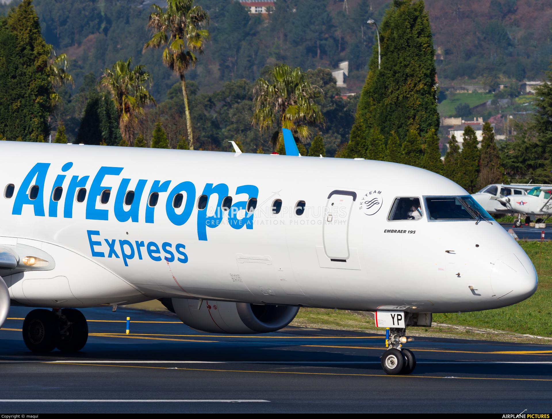 Air Europa Express EC-KYP aircraft at La Coruña