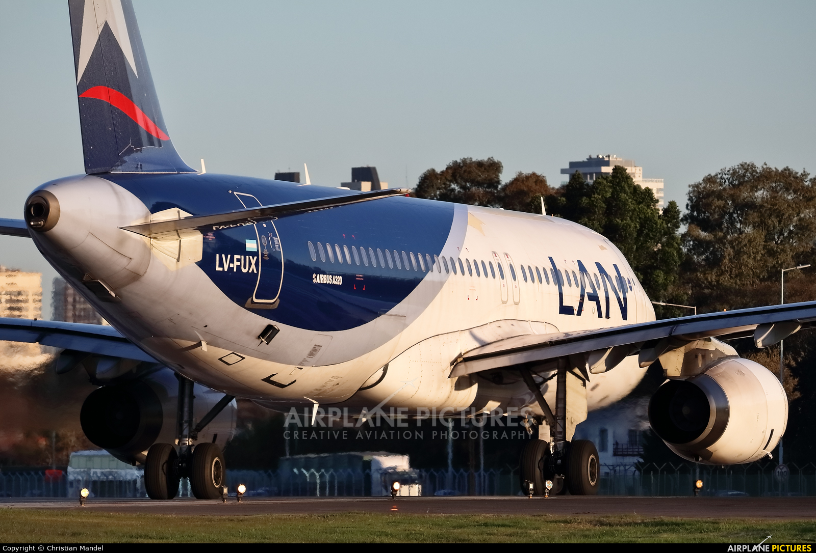 LAN Argentina LV-FUX aircraft at Buenos Aires - Jorge Newbery