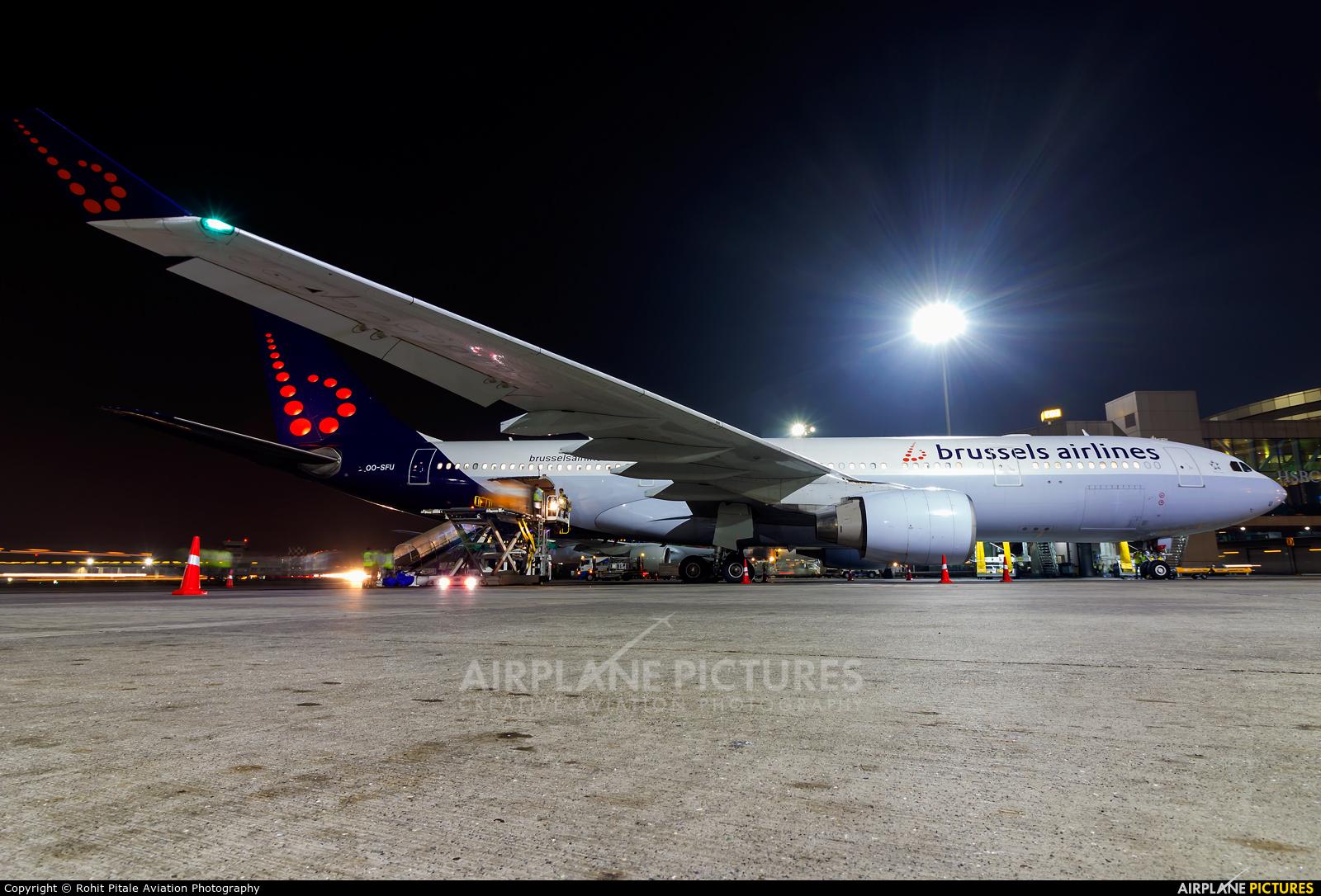 Brussels Airlines OO-SFU aircraft at Mumbai - Chhatrapati Shivaji Intl