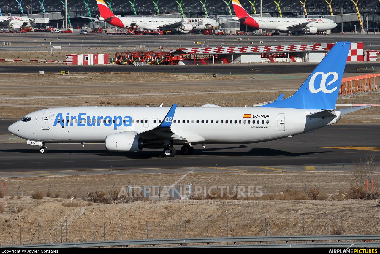 Air Europa EC-MQP aircraft at Madrid - Barajas
