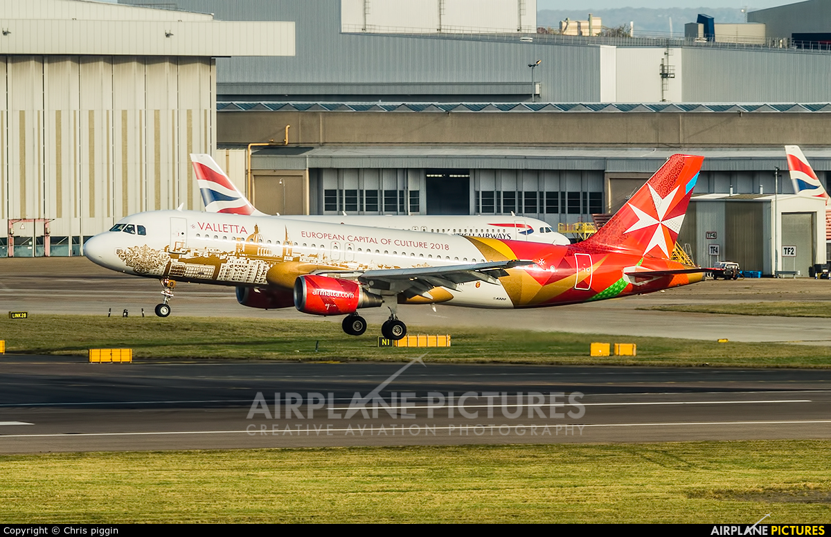 Air Malta 9H-AEO aircraft at London - Heathrow