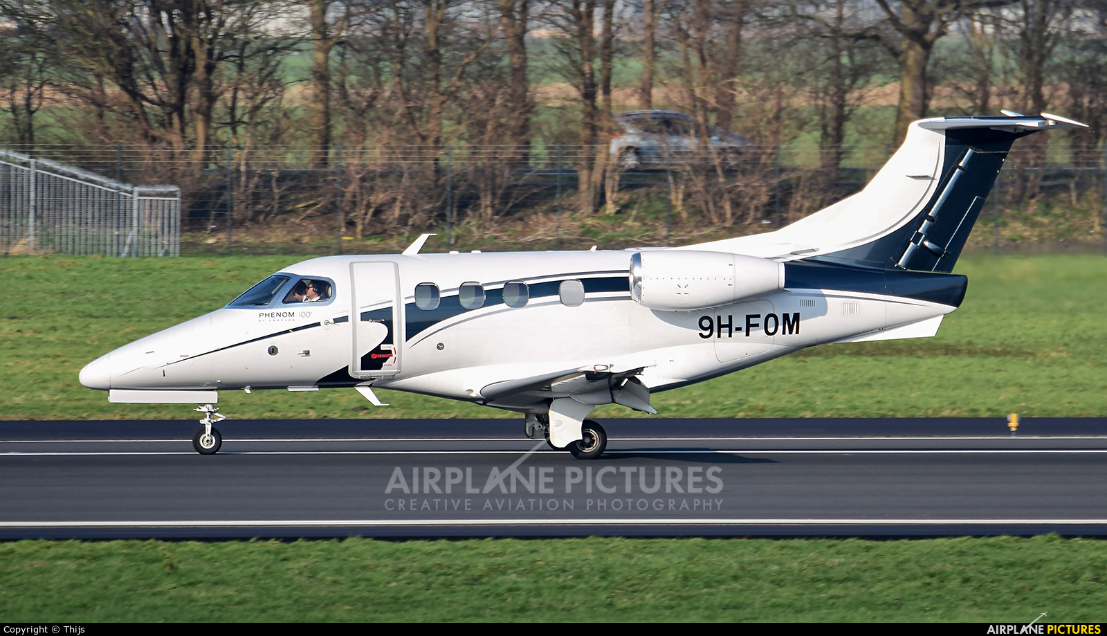 Private 9H-FOM aircraft at Rotterdam
