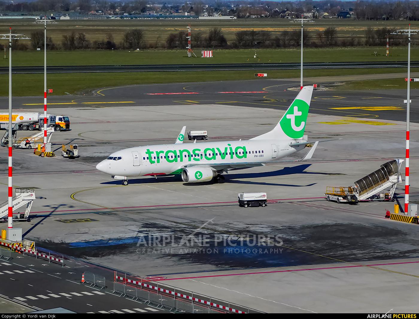 Transavia PH-XRX aircraft at Rotterdam