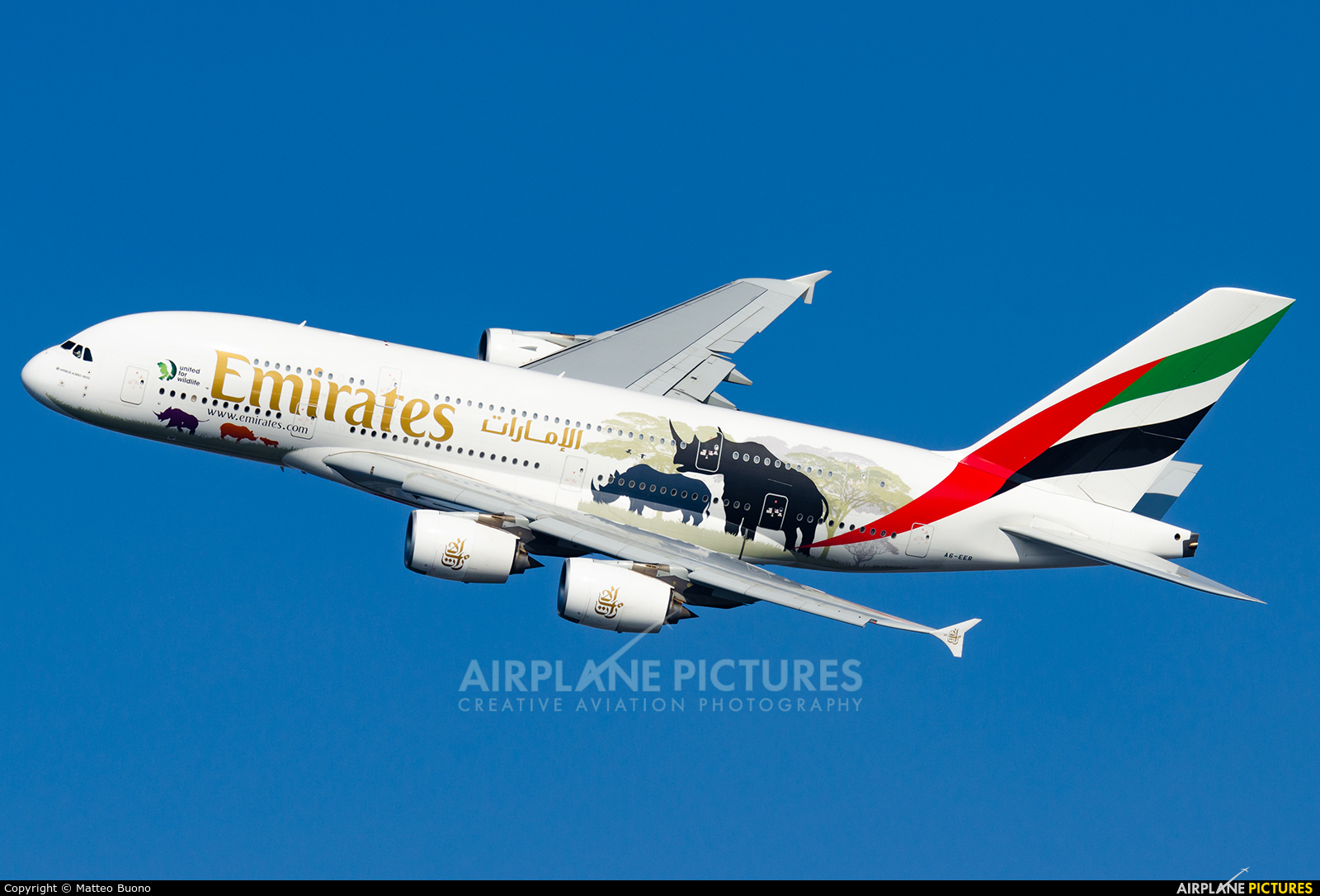 Emirates Airlines A6-EER aircraft at Rome - Fiumicino