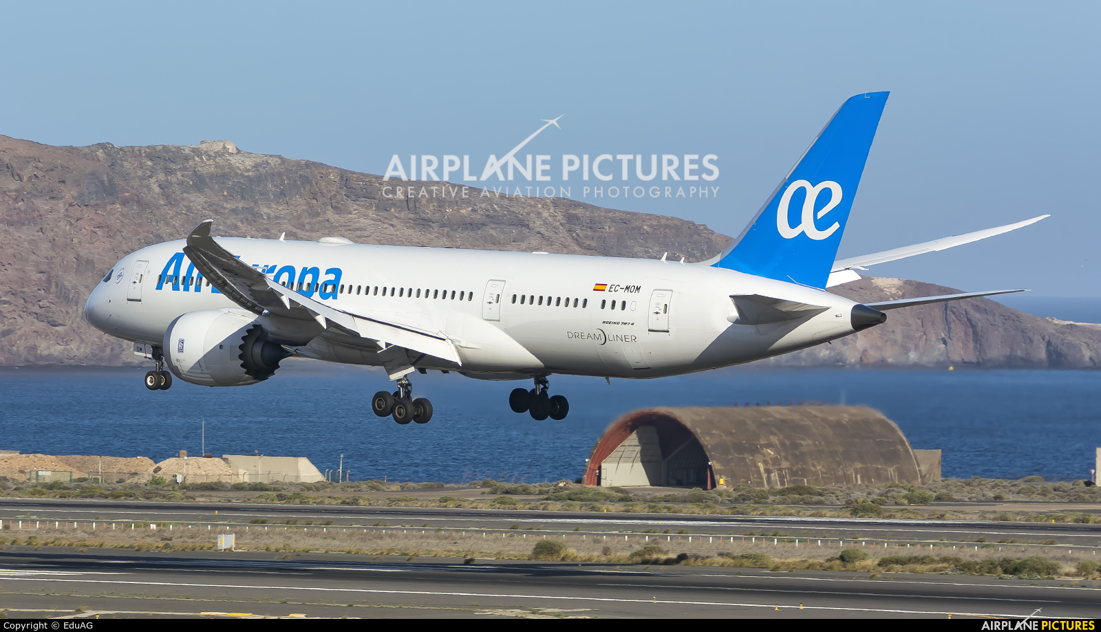 Air Europa EC-MOM aircraft at Aeropuerto de Gran Canaria