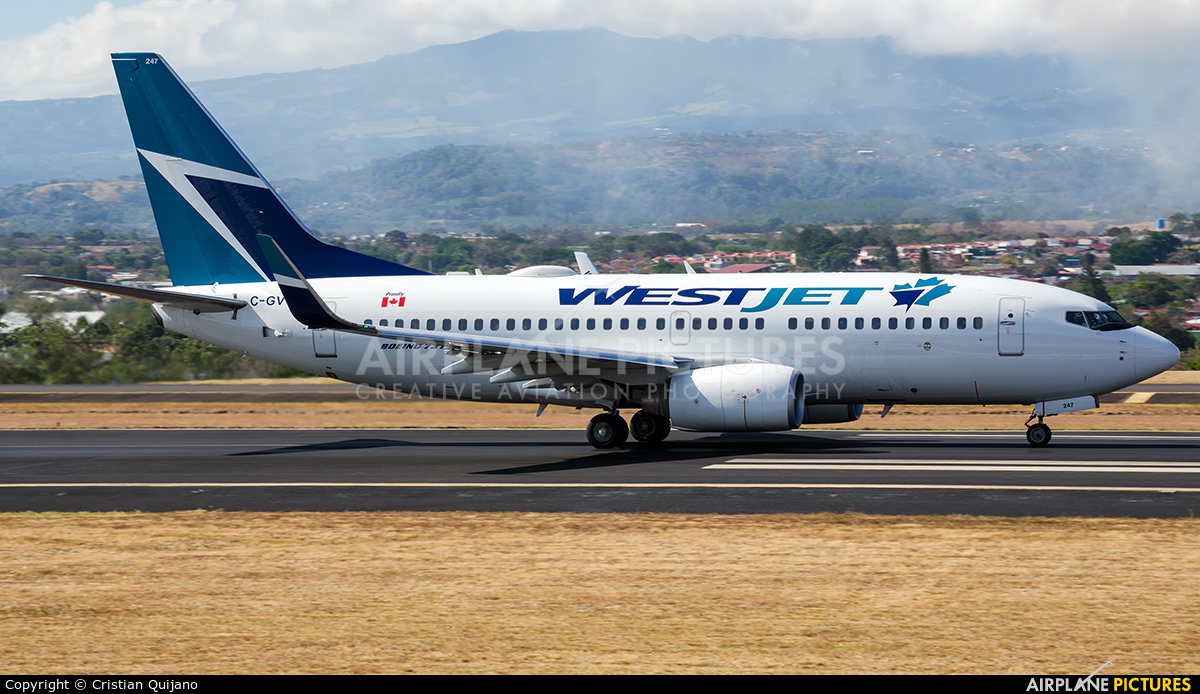 WestJet Airlines C-GVWJ aircraft at San Jose - Juan Santamaría Intl