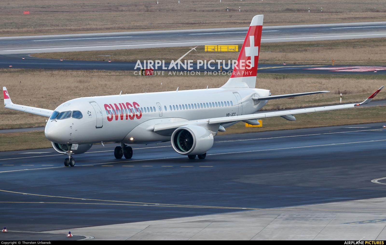 Swiss HB-JCC aircraft at Düsseldorf