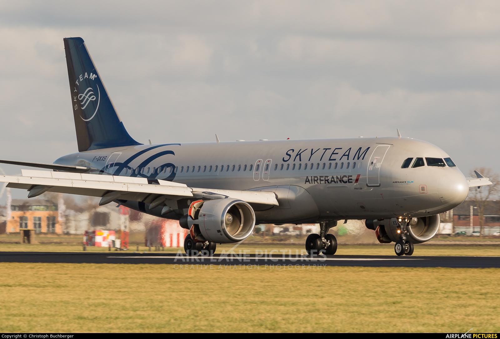 Air France F-GKXS aircraft at Amsterdam - Schiphol