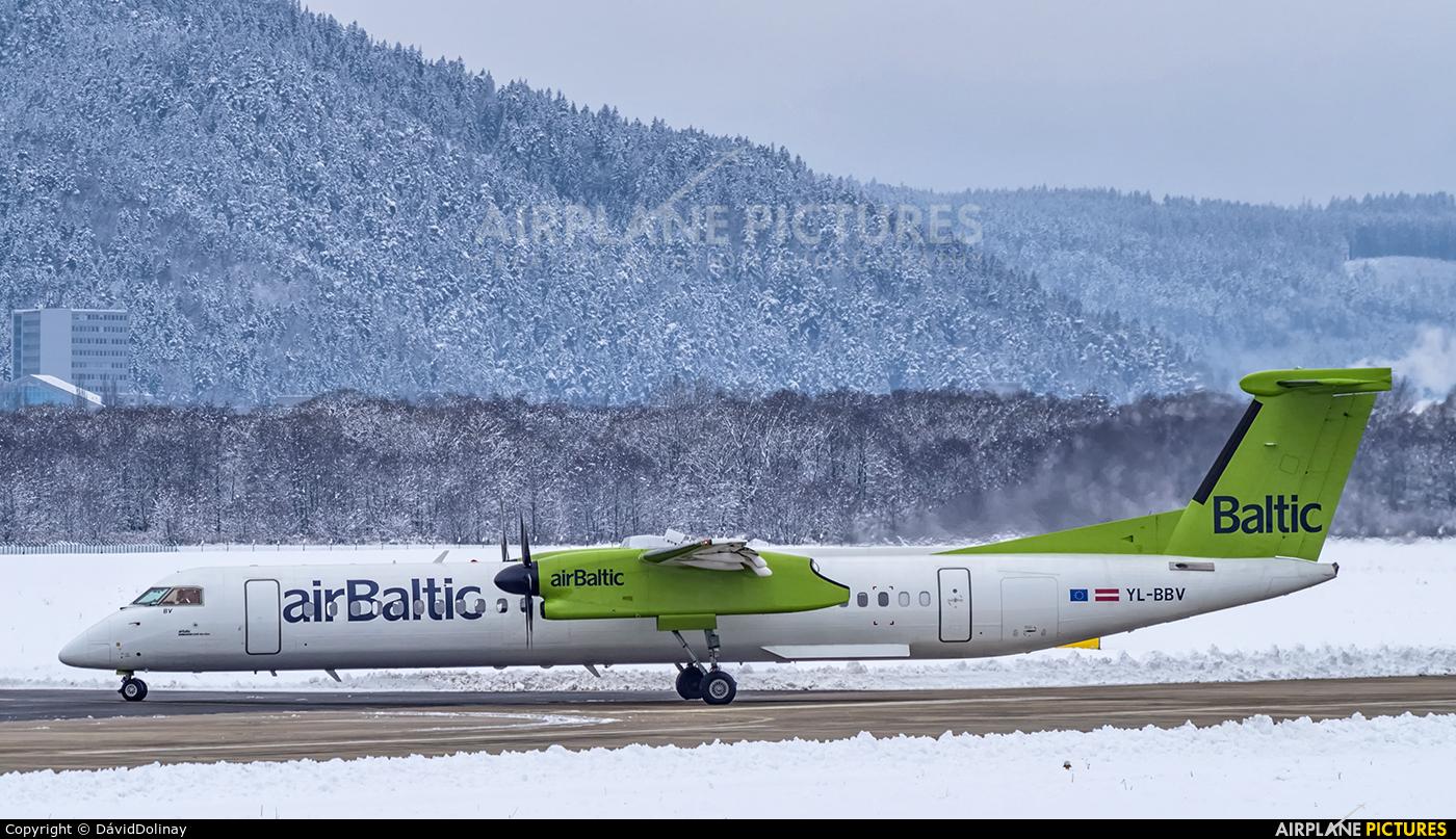 Air Baltic YL-BBV aircraft at Poprad - Tatry