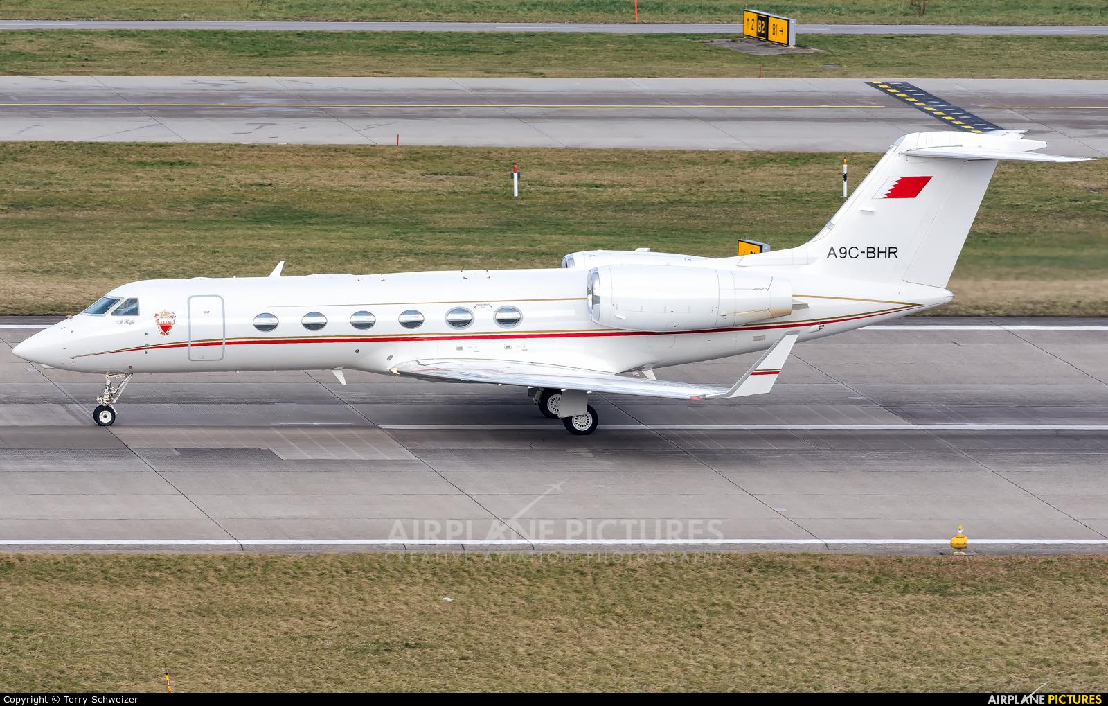 Bahrain Amiri Flight A9C-BHR aircraft at Zurich