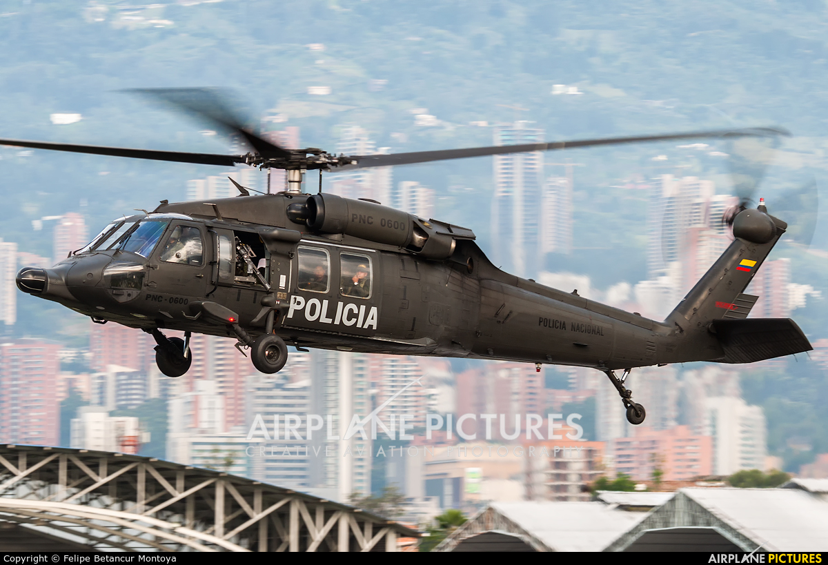 Colombia - Police PNC-0600 aircraft at Medellin - Olaya Herrera