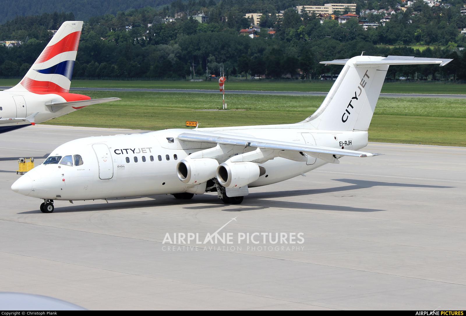 CityJet EI-RJH aircraft at Innsbruck