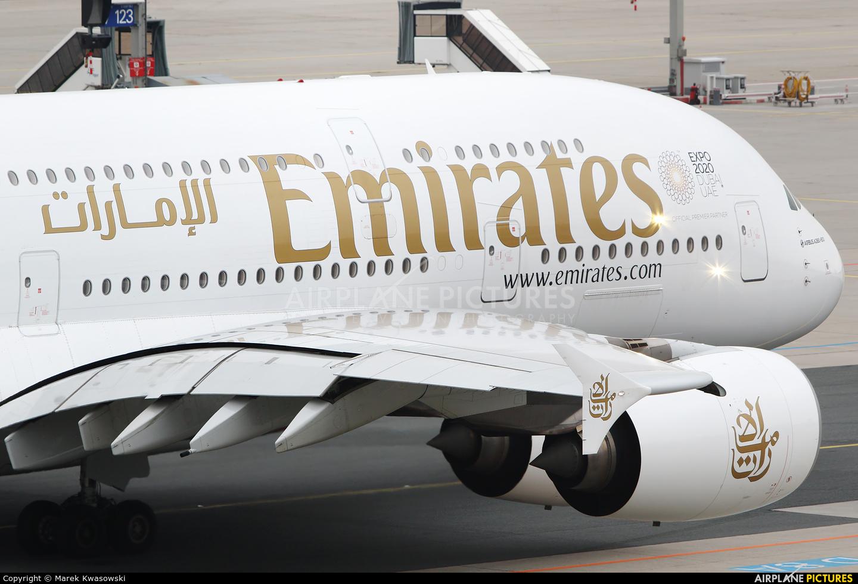 Emirates Airlines A6-EEY aircraft at Frankfurt