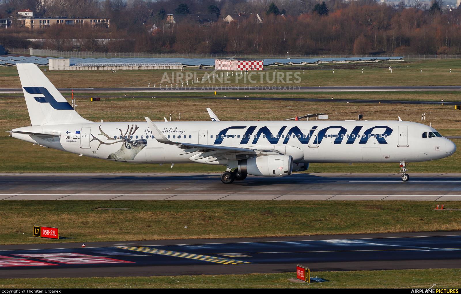 Finnair OH-LZL aircraft at Düsseldorf