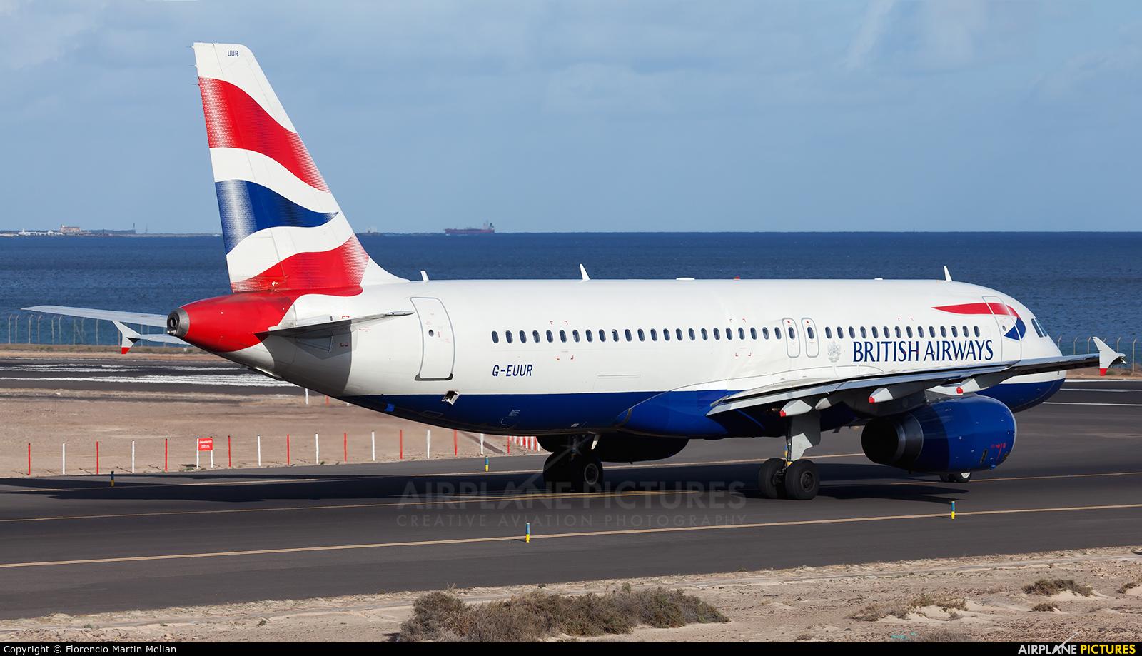 British Airways G-EUUR aircraft at Lanzarote - Arrecife