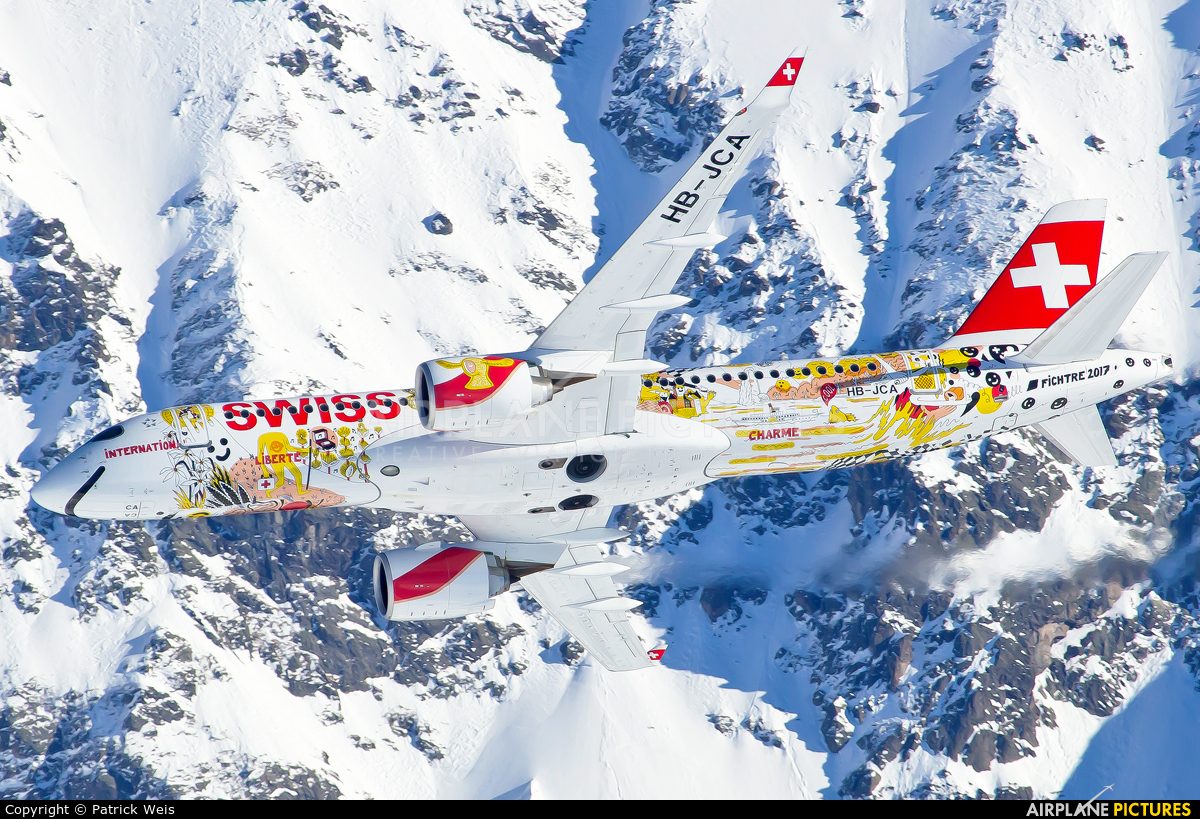 Swiss HB-JCA aircraft at Lauberhorn