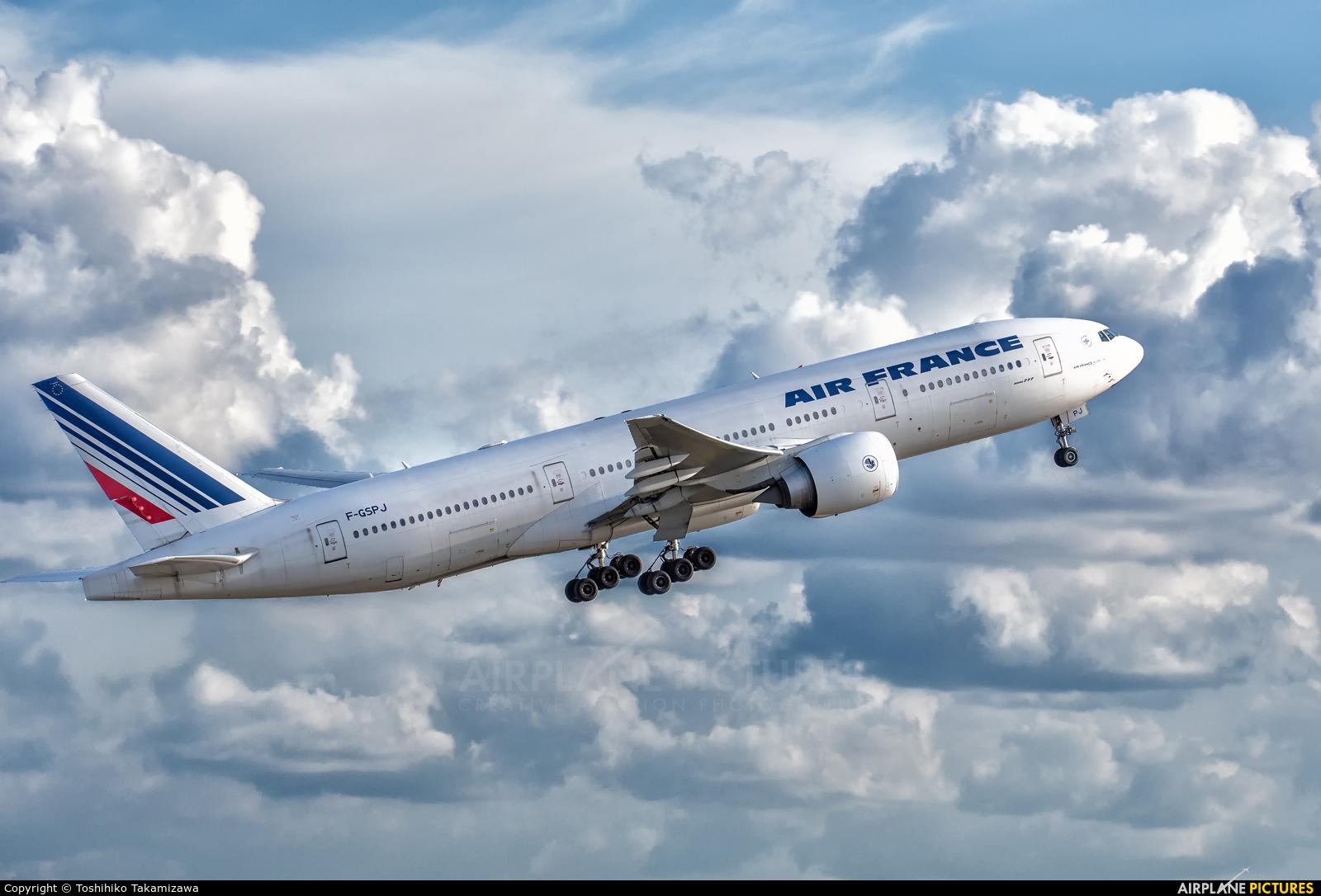 Air France F-GSPJ aircraft at Paris - Charles de Gaulle
