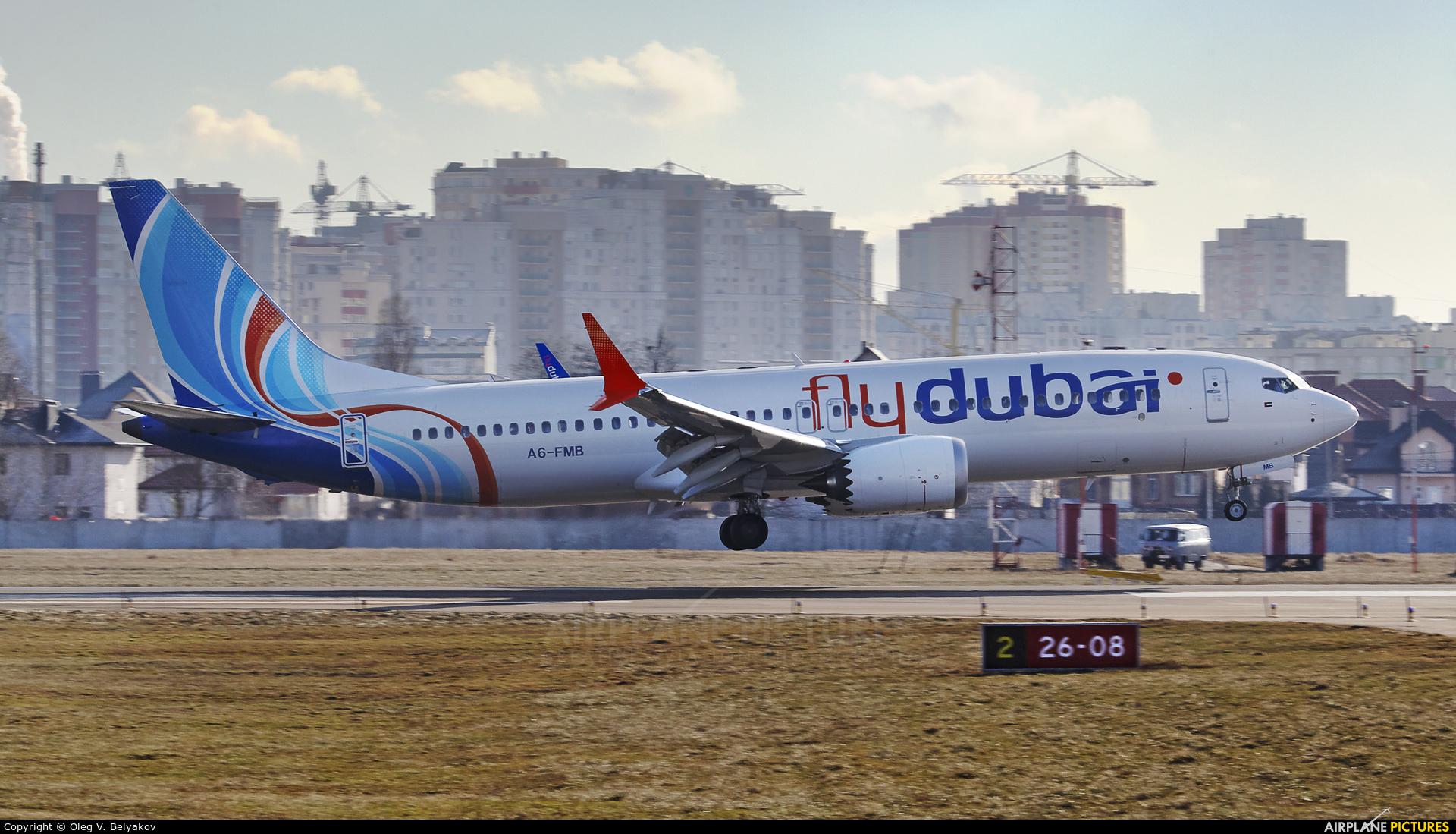 flyDubai A6-FMB aircraft at Kyiv - Zhulyany