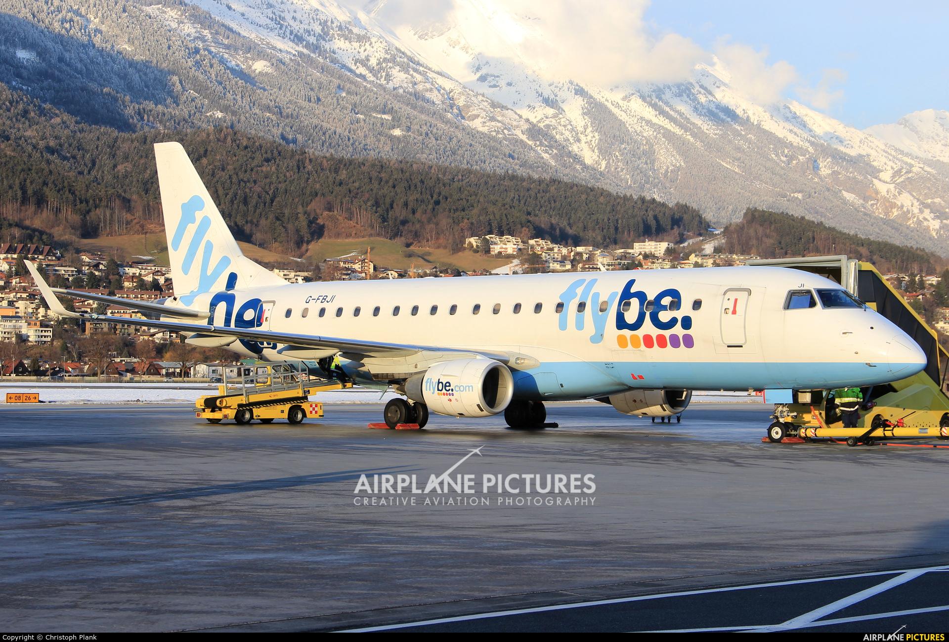 Flybe G-FBJI aircraft at Innsbruck