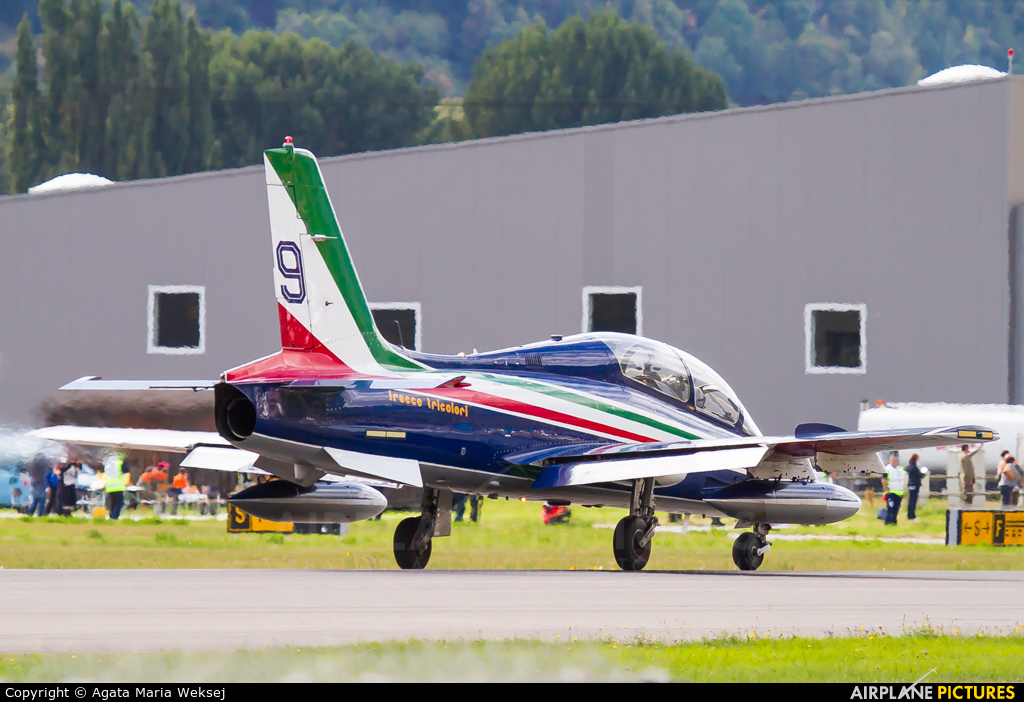 "Italy - Air Force ""Frecce Tricolori"" MM54477 aircraft at Sion"
