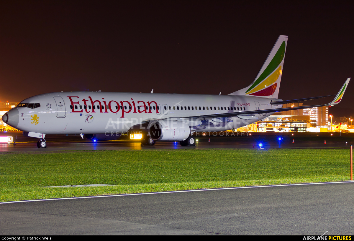 Ethiopian Airlines ET-AQO aircraft at Zurich
