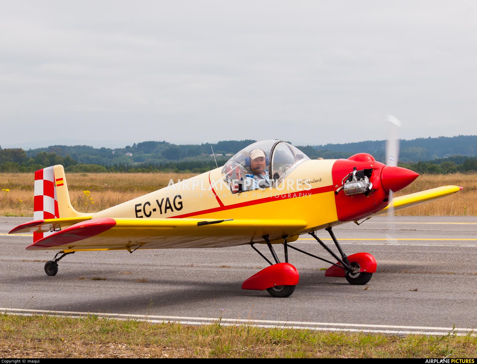 Private EC-YAG aircraft at Lugo - Rozas