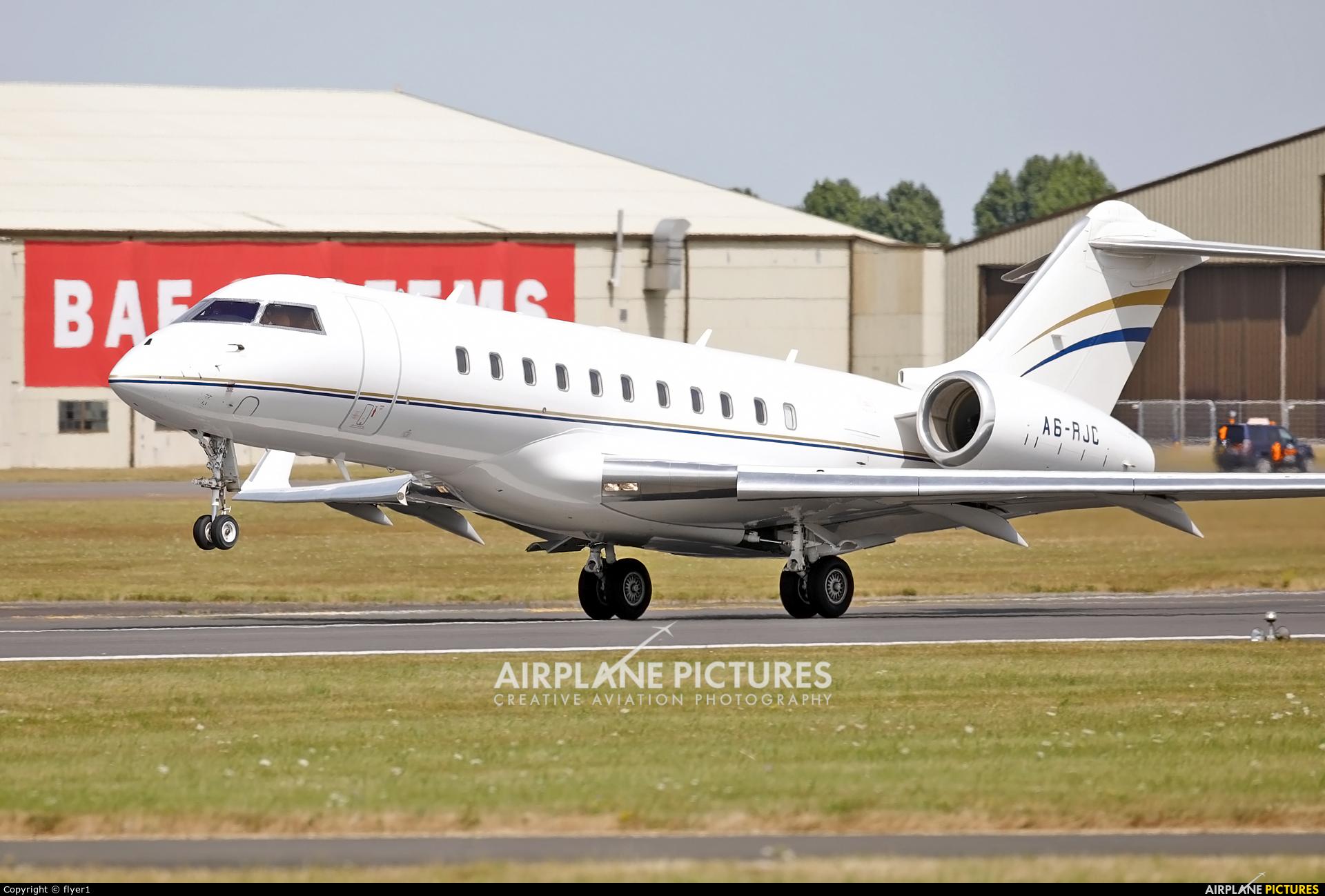 Royal Jet A6-RJC aircraft at Fairford
