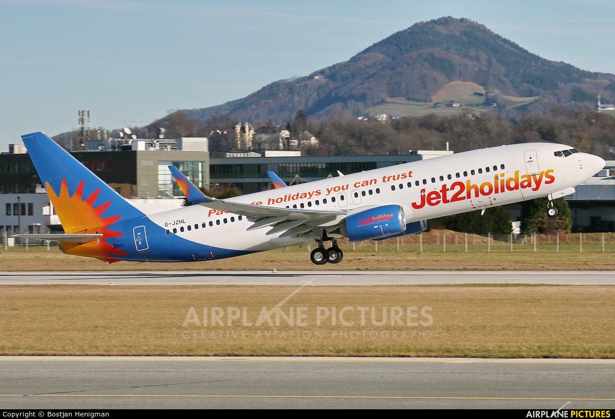 Jet2 G-JZHL aircraft at Salzburg