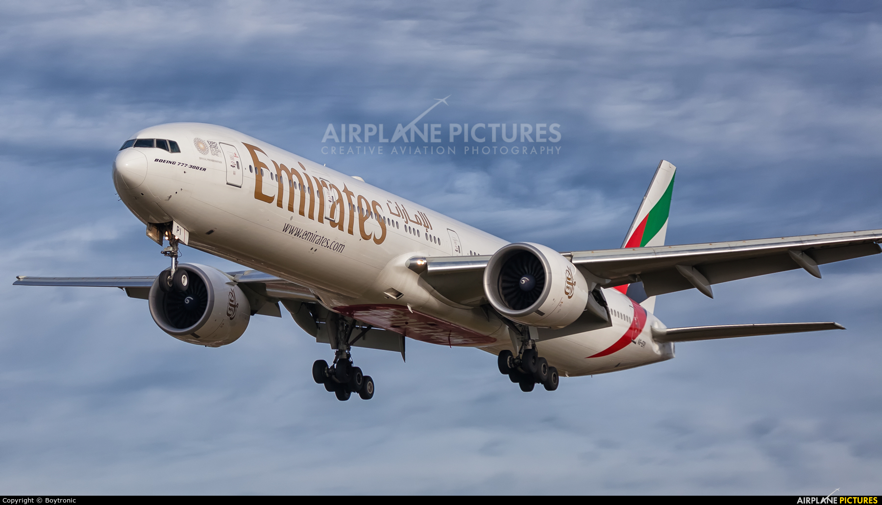 Emirates Airlines A6-EPI aircraft at Zagreb