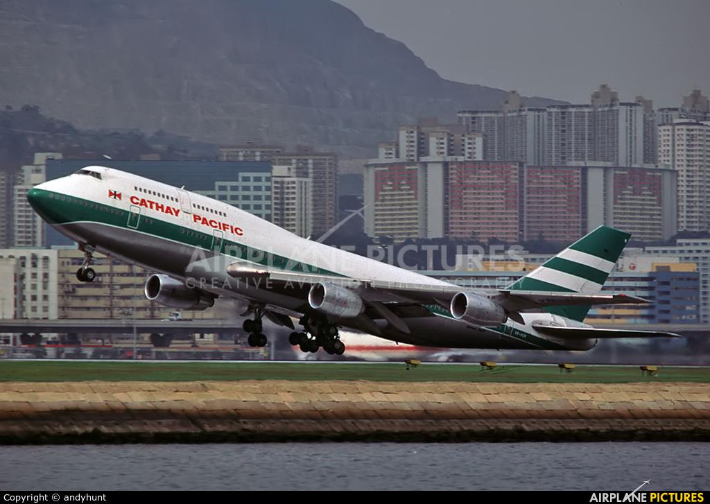 Cathay Pacific VR-HOM aircraft at HKG - Kai Tak Intl CLOSED