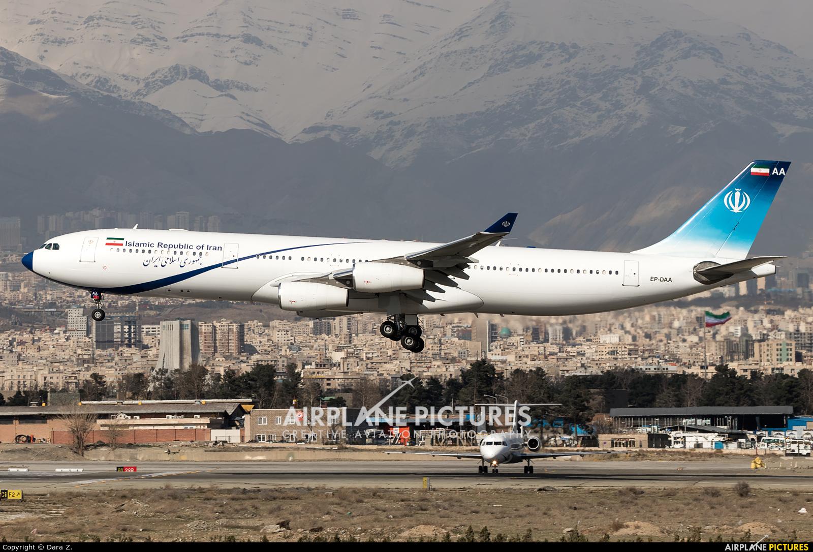 Iran - Government EP-DAA aircraft at Tehran - Mehrabad Intl