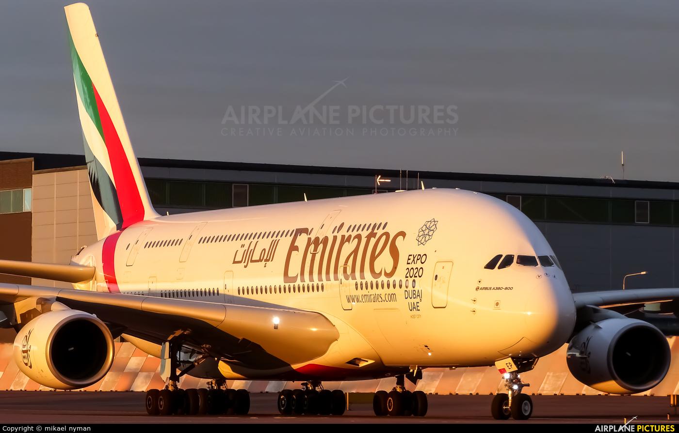 Emirates Airlines A6-EEP aircraft at Helsinki - Vantaa