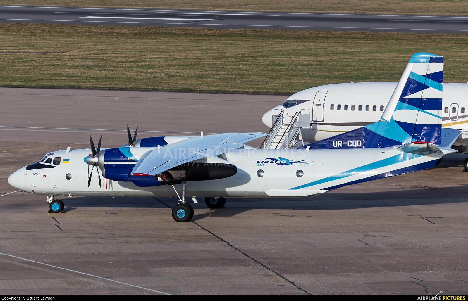 Vulkan Air UR-CQD aircraft at Birmingham