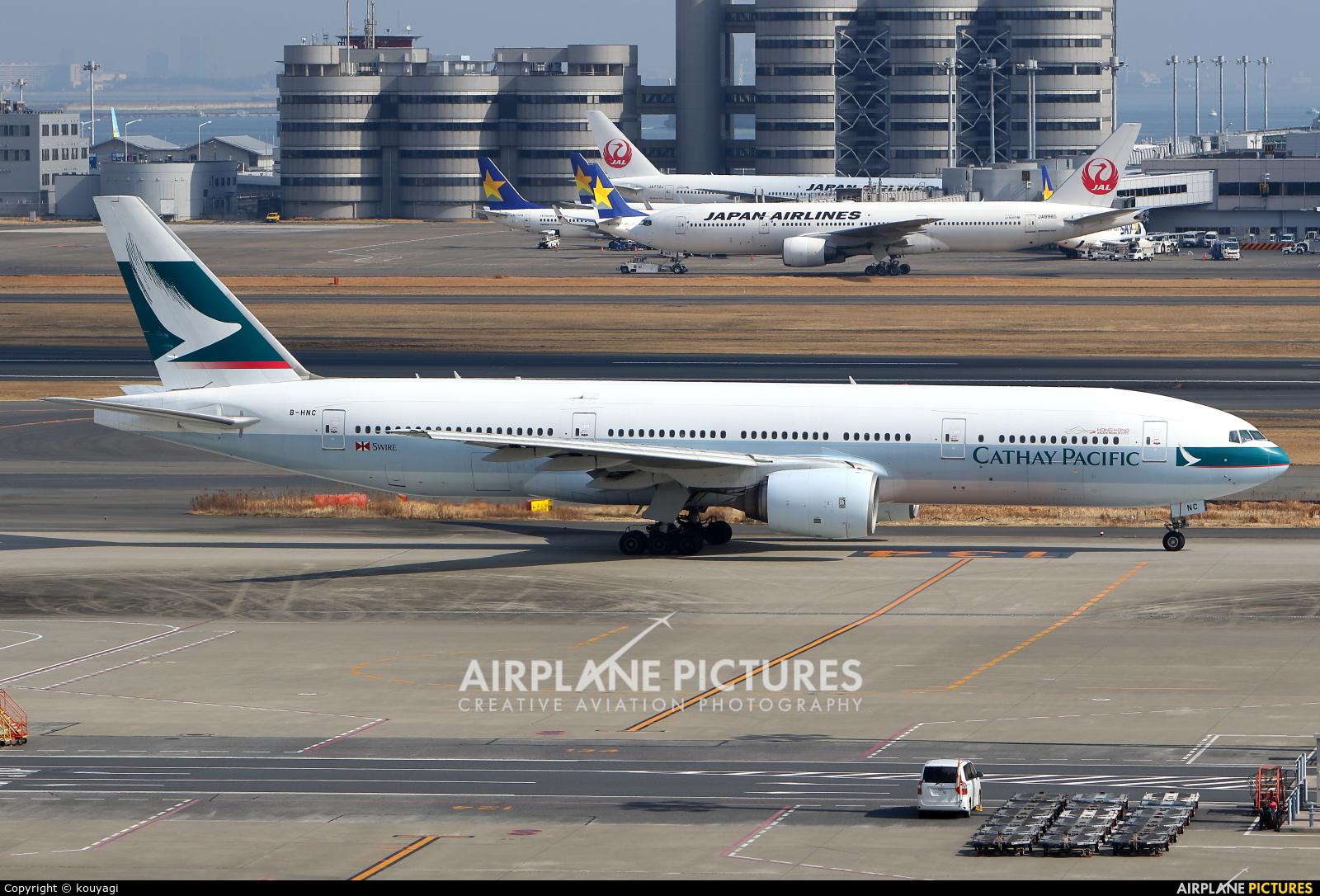 Cathay Pacific B-HNC aircraft at Tokyo - Haneda Intl