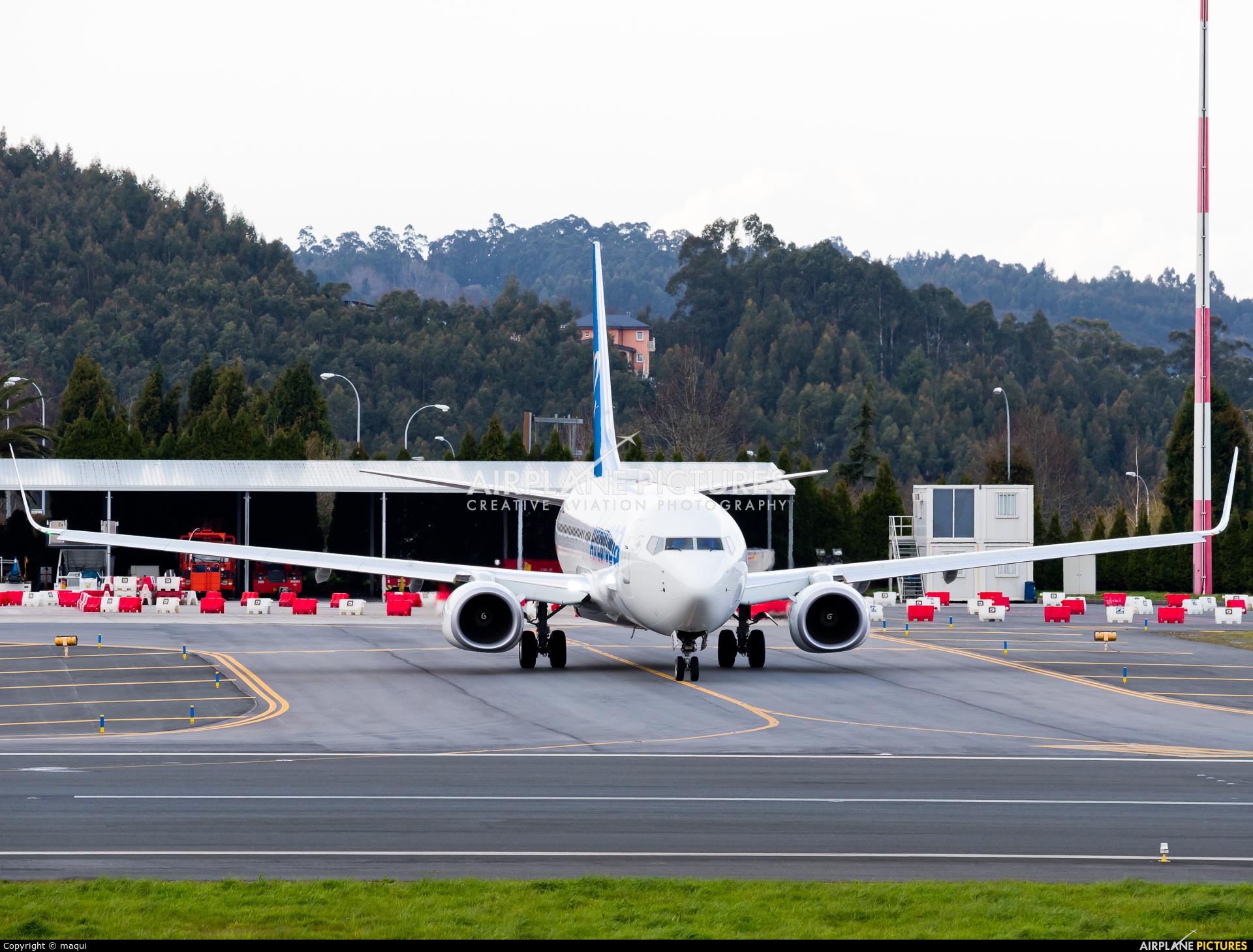 Air Europa EC-MQP aircraft at La Coruña