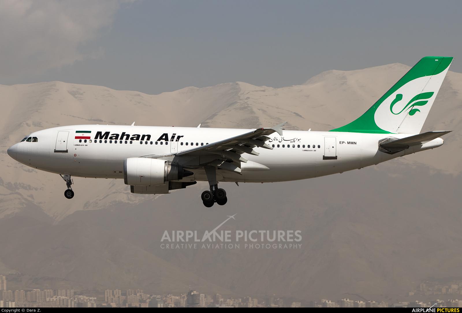 Mahan Air EP-MMN aircraft at Tehran - Mehrabad Intl