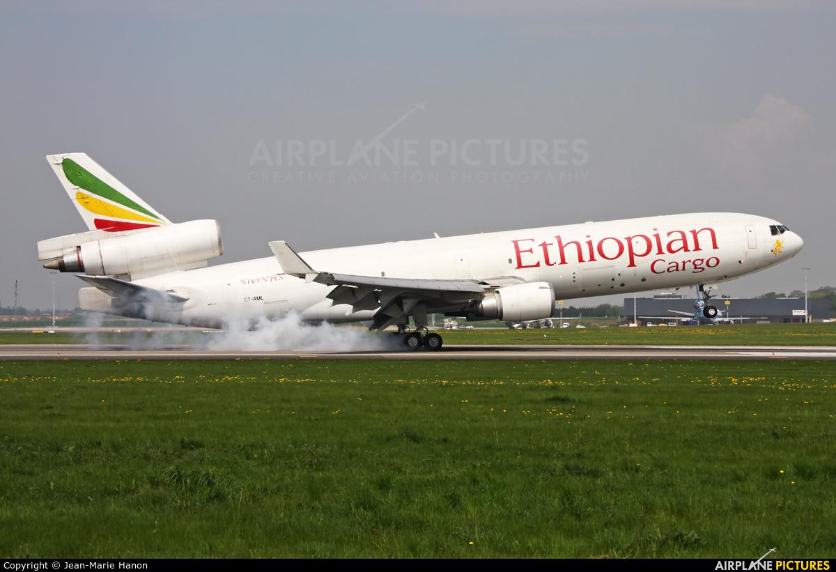 Ethiopian Cargo ET-AML aircraft at Liège-Bierset