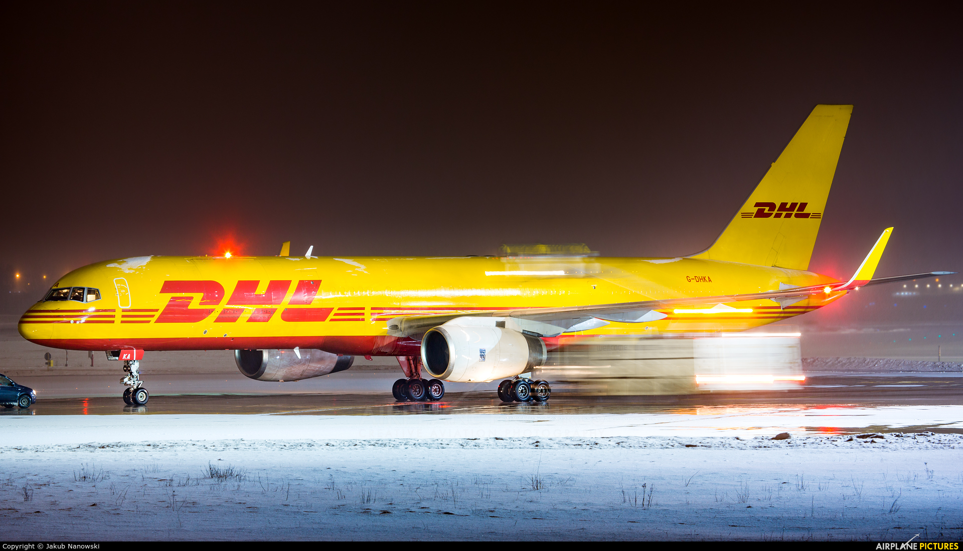 DHL Cargo G-DHKA aircraft at Gdańsk - Lech Wałęsa