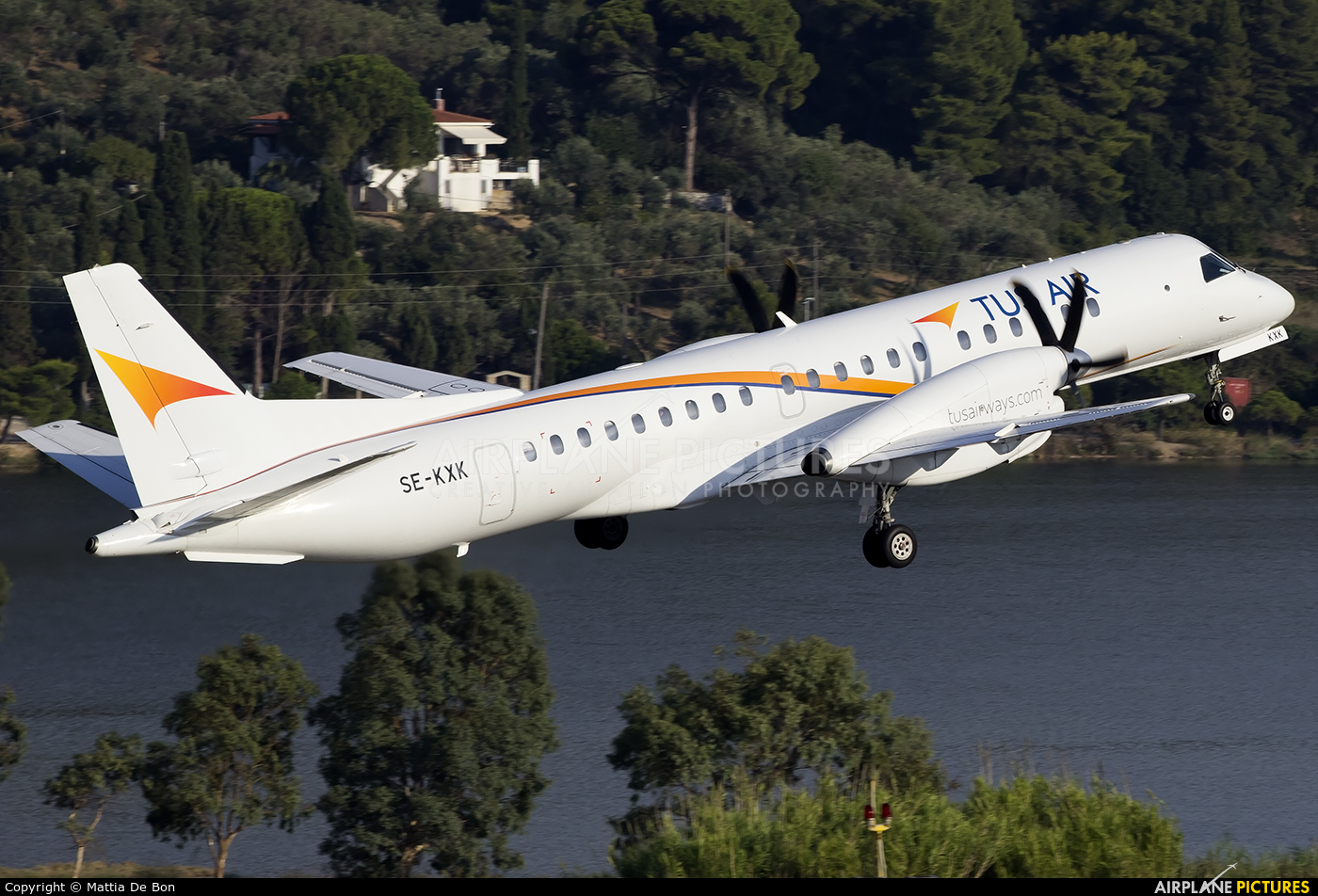 Tus Airways SE-KXK aircraft at Skiathos