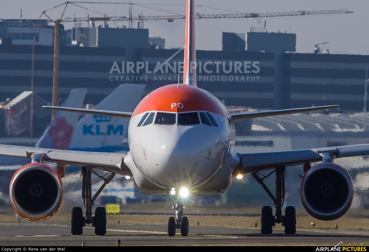 easyJet G-EZPD aircraft at Amsterdam - Schiphol