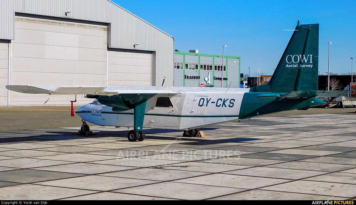 Cowi OY-CKS aircraft at Rotterdam