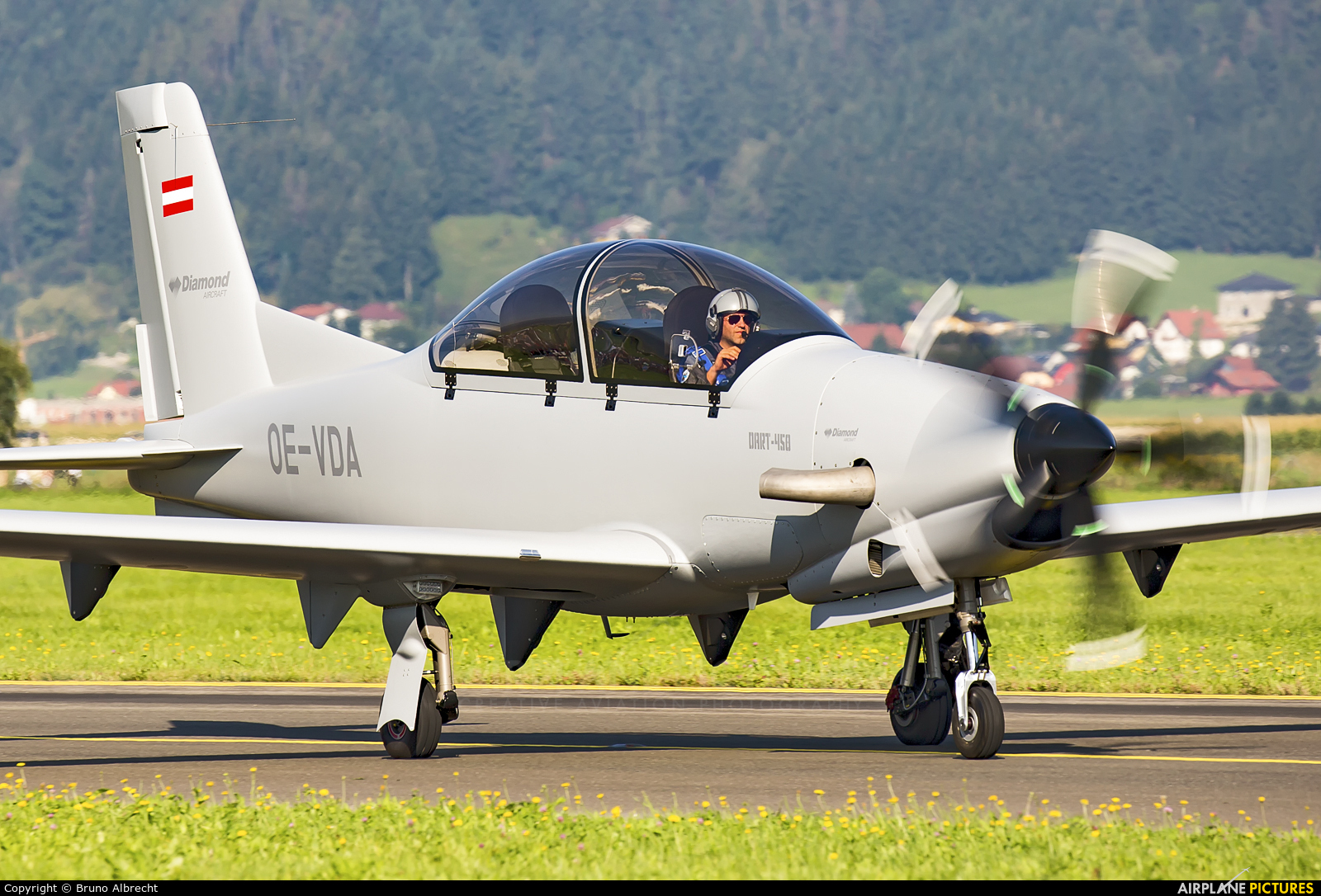 Private OE-VDA aircraft at Zeltweg