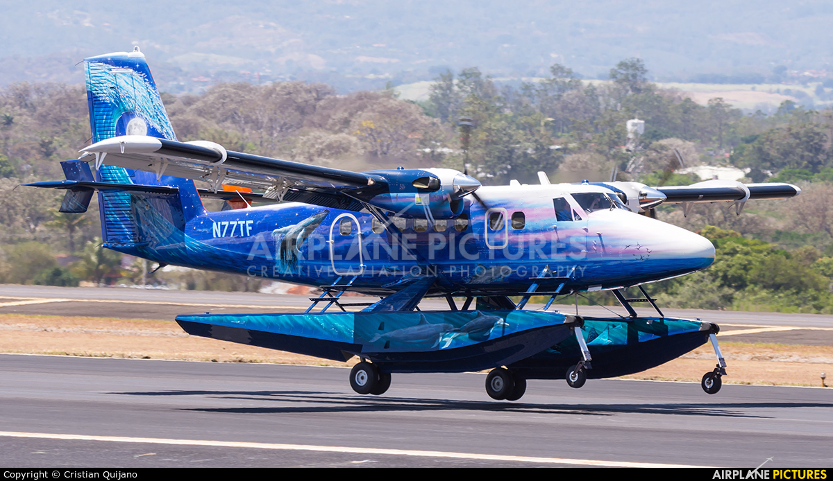 Private N77TF aircraft at San Jose - Juan Santamaría Intl