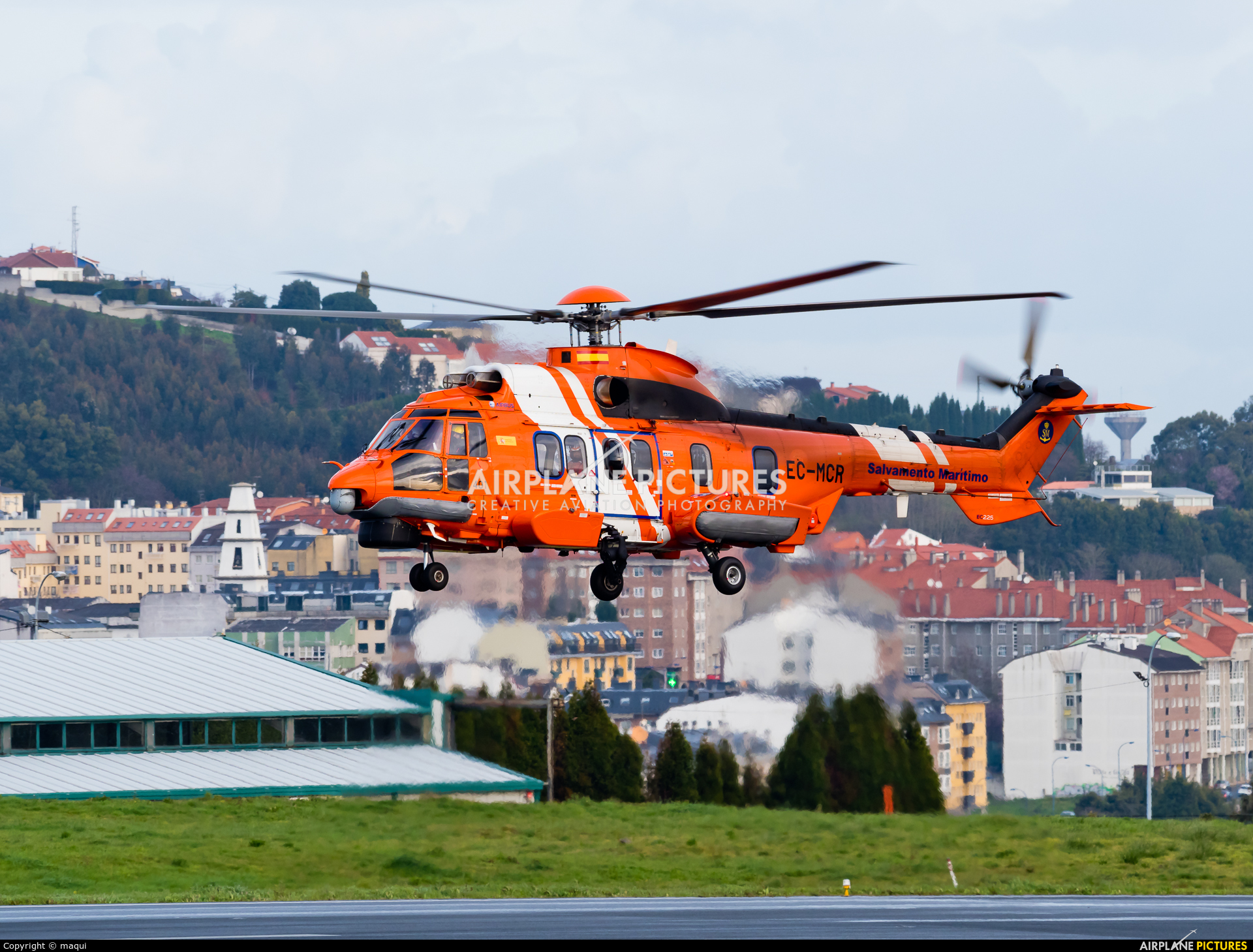 Spain - Coast Guard EC-MCR aircraft at La Coruña