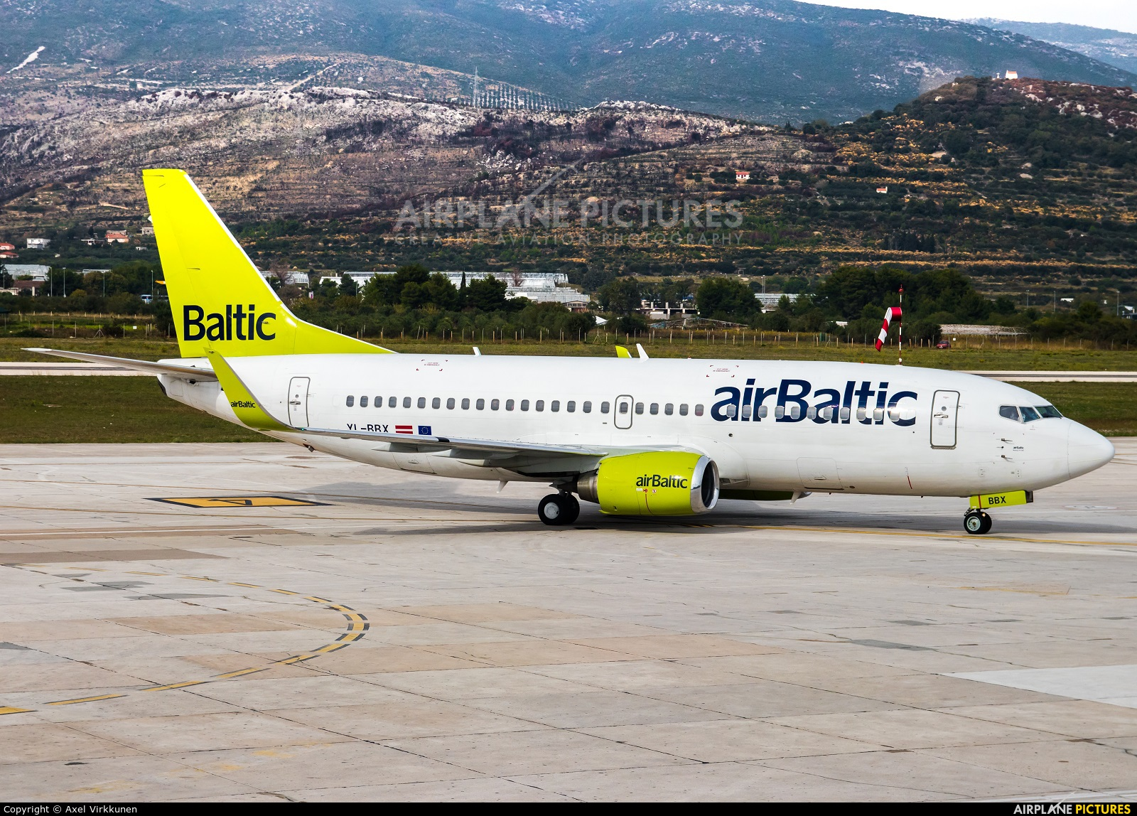 Air Baltic YL-BBX aircraft at Split - Kaštela