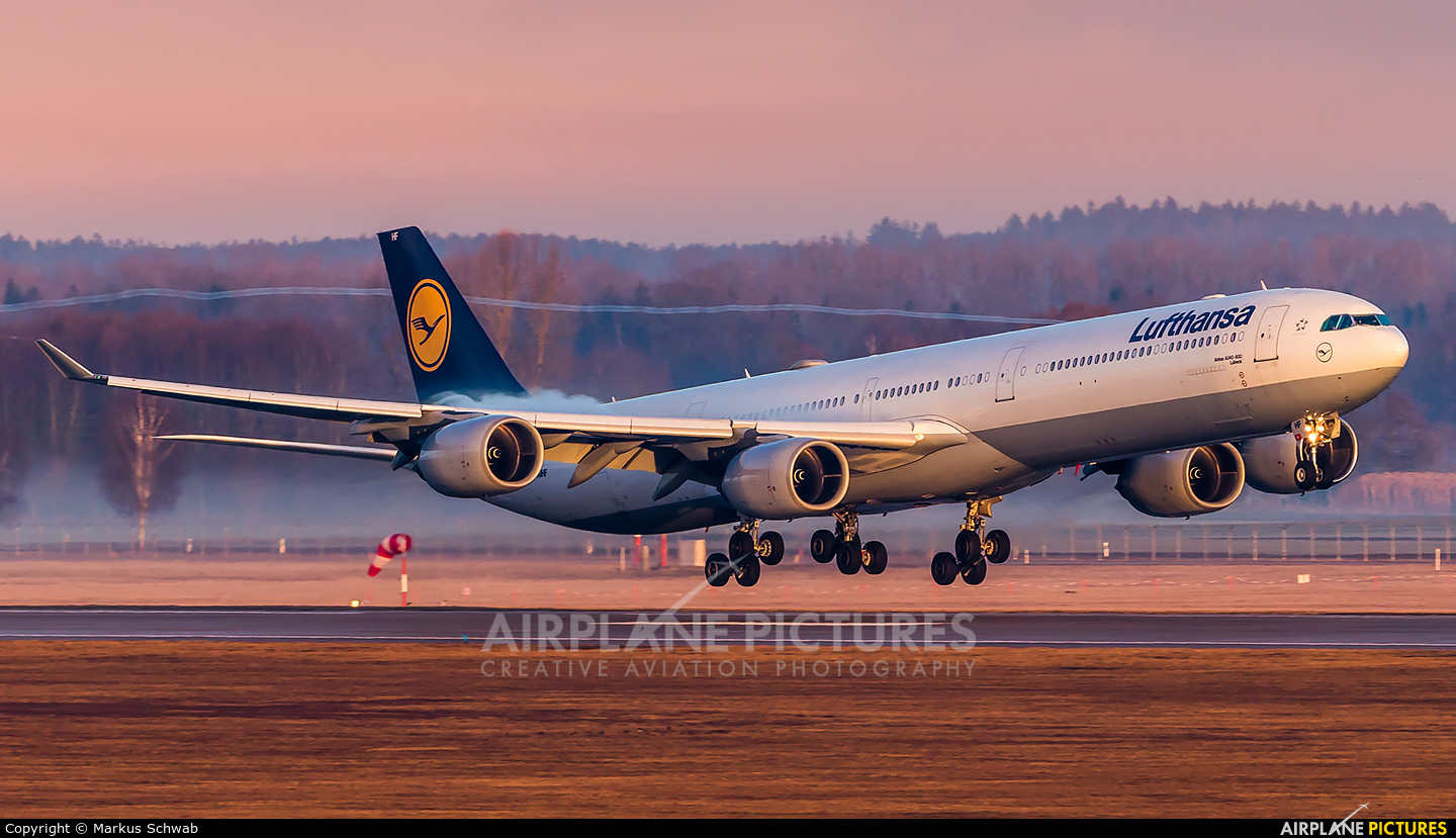 Lufthansa D-AIHF aircraft at Munich
