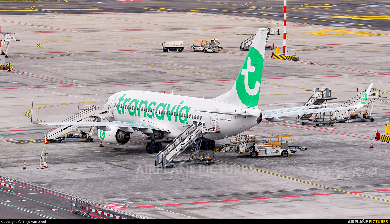 Transavia PH-XRC aircraft at Rotterdam