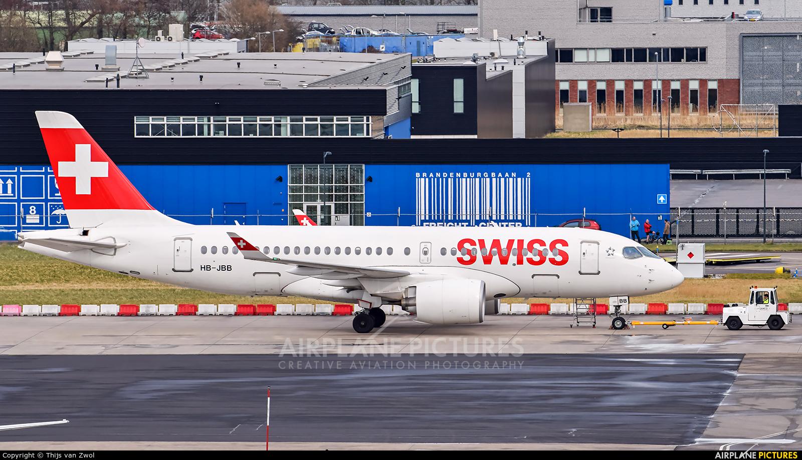 Swiss HB-JBB aircraft at Rotterdam
